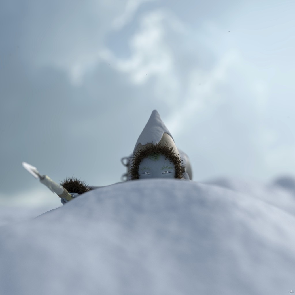 nylnook dans la neige