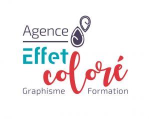 Logo Agence effet coloré
