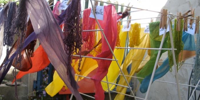 Des ateliers de teinture végétale pendant les vacances de Noël