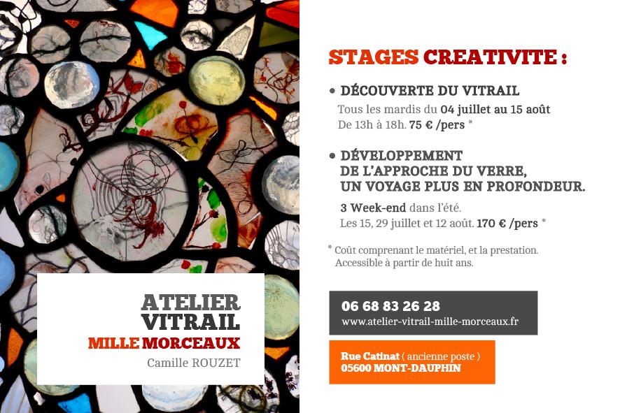 Stage créativité Vitrail dans les Alpes