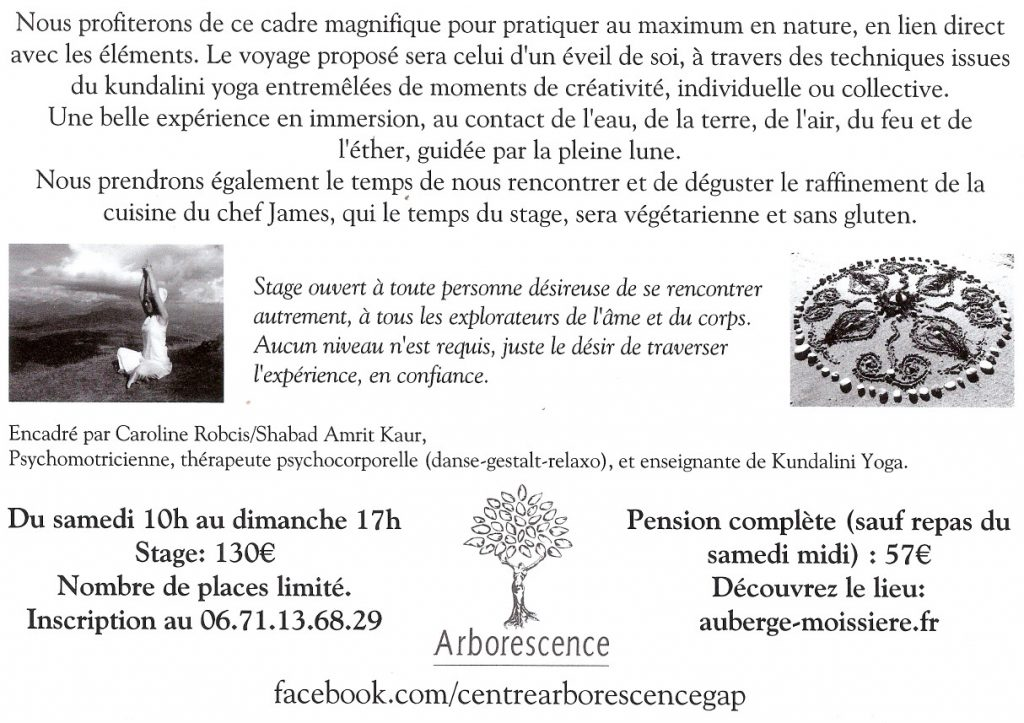 Stage Yoga dans la nature - Alpes