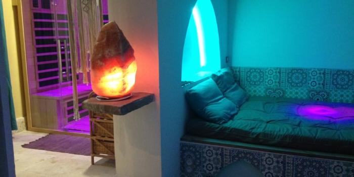 Installation d'un sauna infrarouge chez Solange
